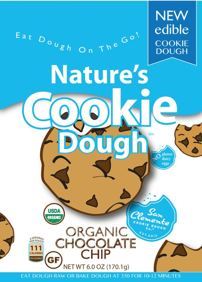 """Packaging front panel proclaiming, """"Organic and Gluten Free!"""""""