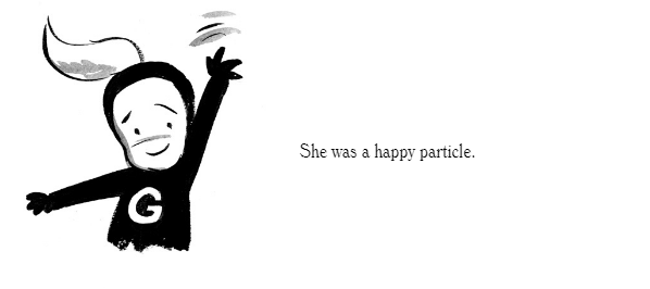 The Little Particle That Could in black & white