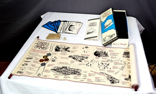 Includes 5' Canvas Scroll, 5 Custom Tokens, Die, Instructions and 12 Lost Island Cards