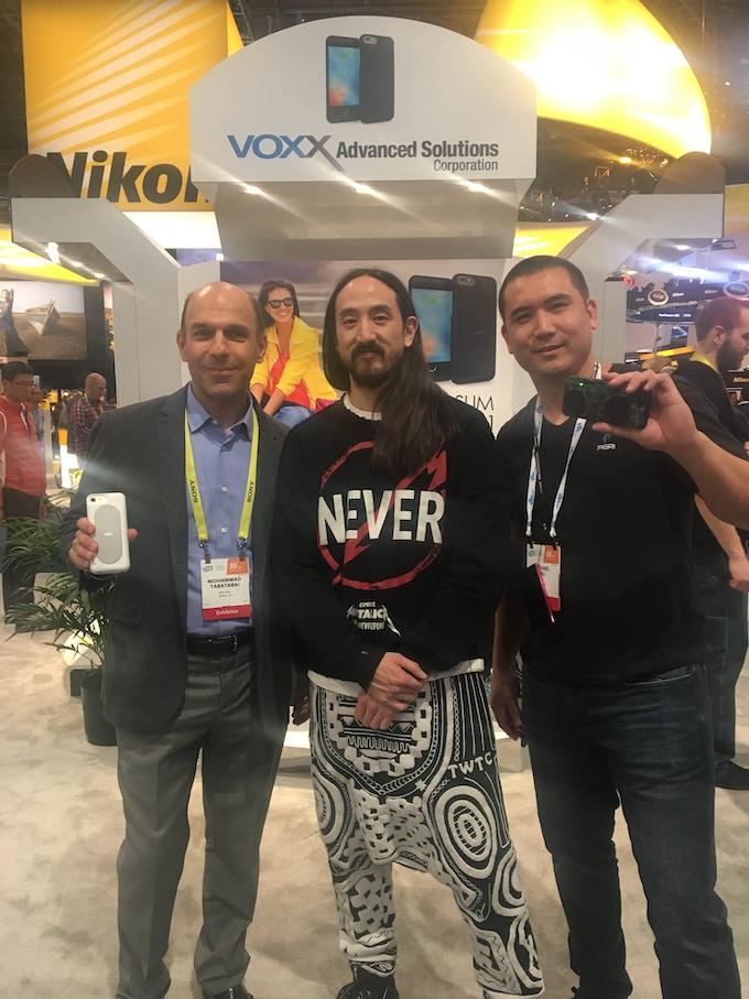 Steve Aoki with CEO Mohammad Tabatabai and CFO/Co-Founder Michael Hsu