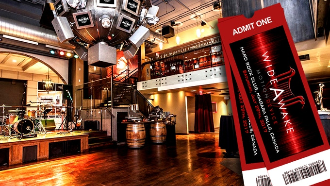 2 Tickets to the 'WIDE AWAKE' Premiere at the Hard Rock Cafe in Niagara Falls, Ontario, Canada