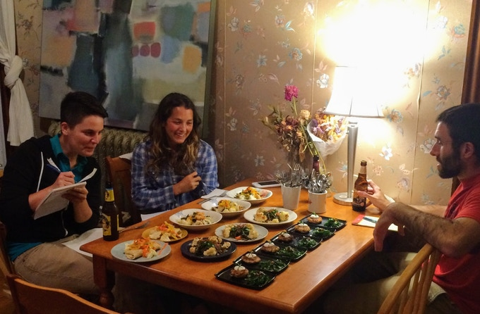 The very first judges admiring the dishes at the inaugural Fyood event.