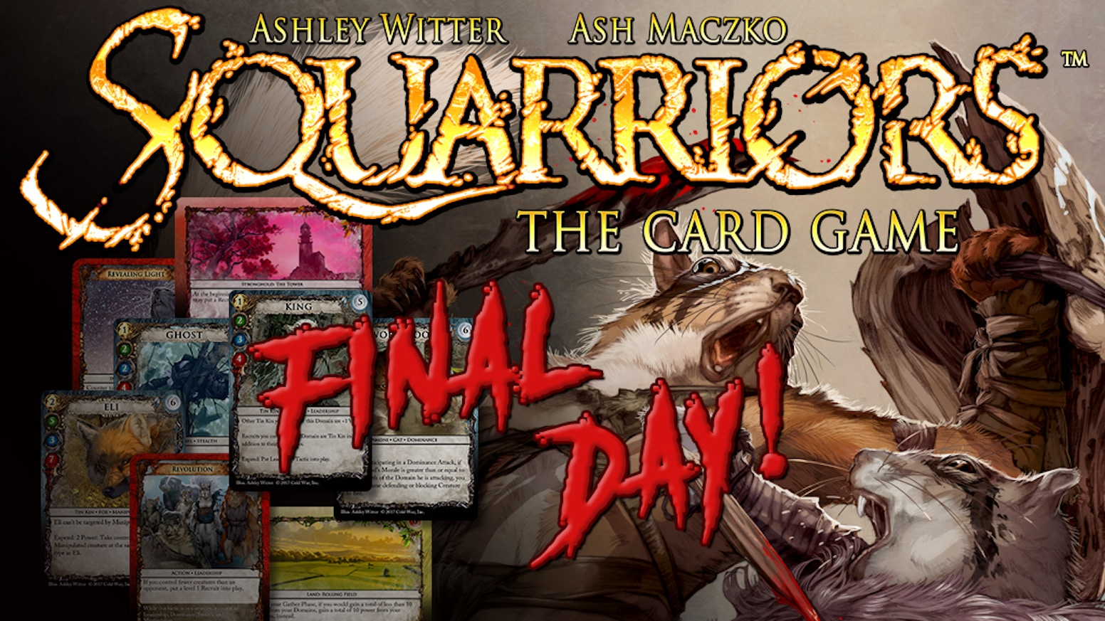 The official tabletop card game based on the hit indie-comic, SQUARRIORS. Build your Tribe. Focus your Strategy. Survive.