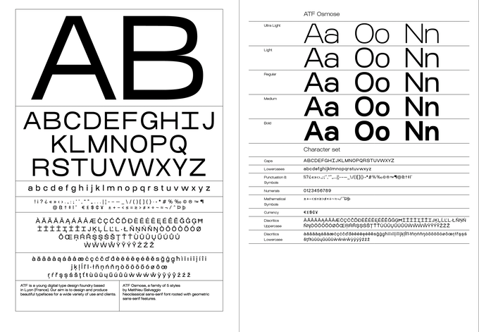 100 Newspapers, 100 limited Licences of AT Osmose Typeface