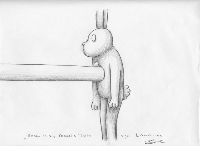 """An original drawing from """"Rocks In My Pockets"""""""