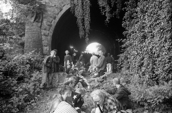 Free Party Under Clifton Suspension Bridge Bristol '95