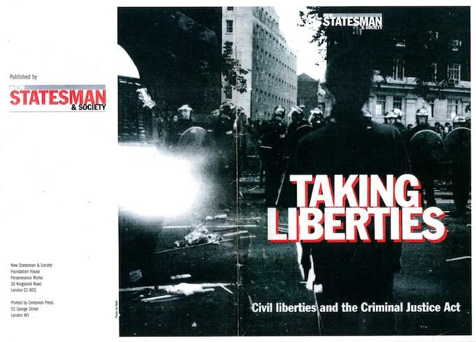New Statesman Taking Liberties Cover 1994