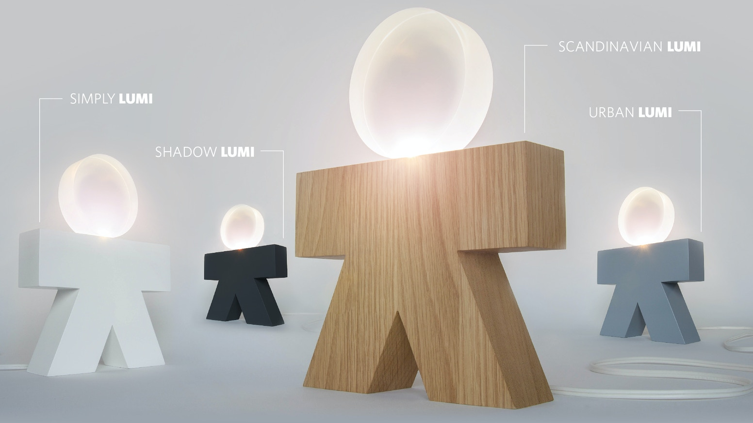 Unique and minimalist lines create a soft light effect with