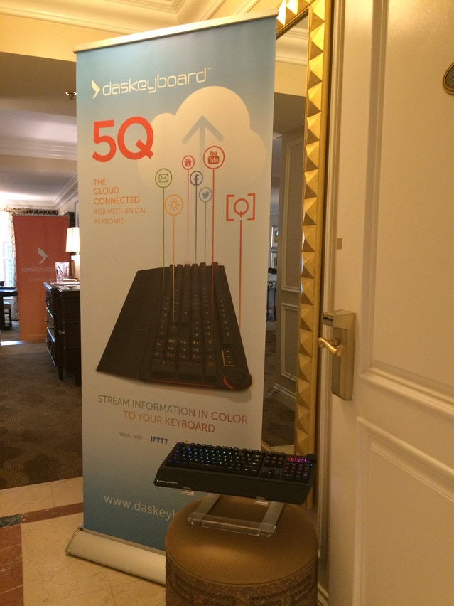 Guests were greeted with our 5Q banner and a lit up 5Q at the entrance of our Suite.