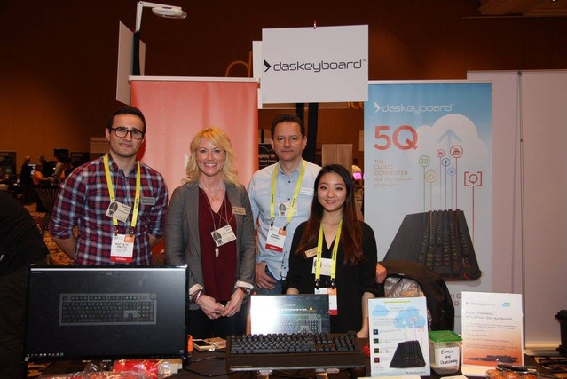 The Das Keyboard 5Q team at the Digital Experience media event hosted by Pepcom.