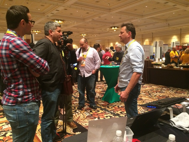 Daniel, CEO, speaking with the guys from TechCrunch.
