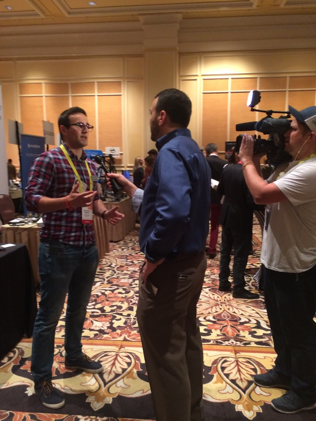 Baptiste, Q software engineer, speaking with another media outlet.