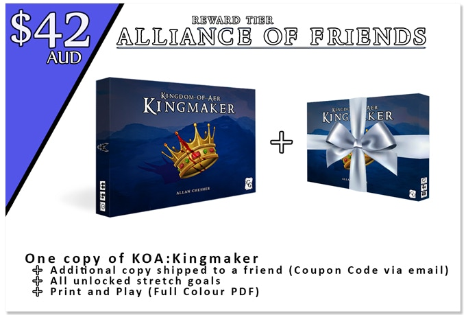 Kingdom of aer kingmaker by centennial games kickstarter all prices shown are in australian dollars aud fandeluxe Choice Image