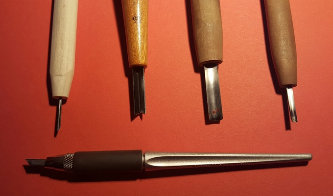 V-gouges, U-gouges, and a Tiny Japanese Blade