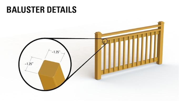 rüT fits standard size balusters