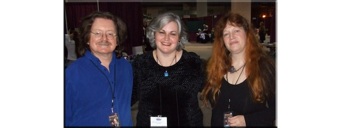BAF editor Danielle Ackley-McPhail with Brian and Wendy Froud