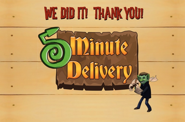 Five Minute Delivery is a fast-paced board game where everyone plays at the same time, and it's only 5 minutes long!