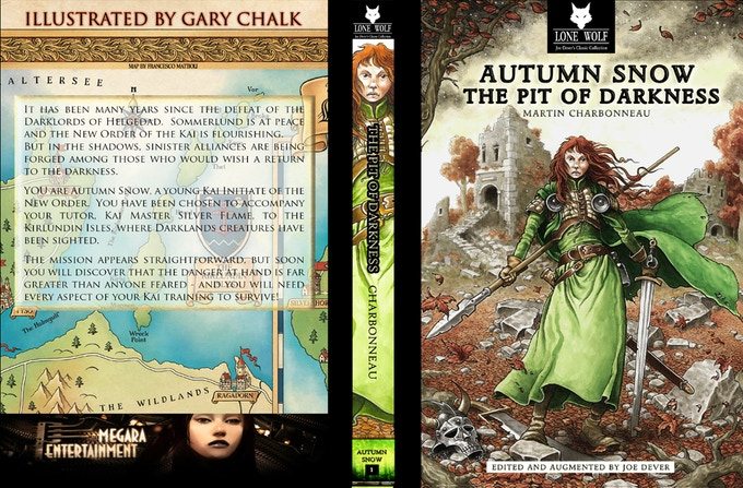 Autumn Snow 1 English version, cover, spine and back cover