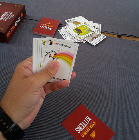 Exploding Kittens was funded through Kickstarter! We will be stocking this!