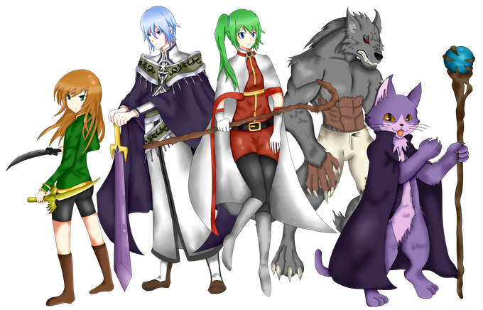 Character art of the main cast of ATHOPS