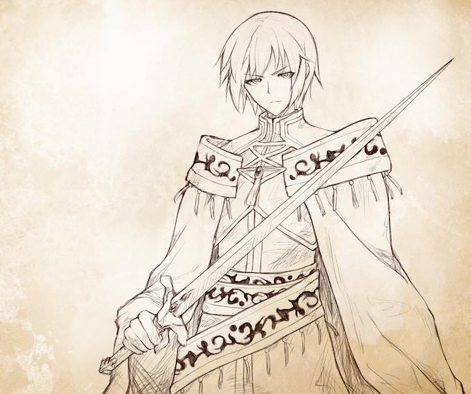 Sketch Art of the hero, Nolan, done by @MUG_kaburi on Twitter.