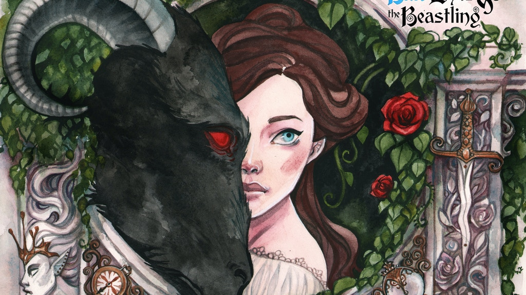 Blue Eyes And The Beastling Watercolor Graphic Novel By