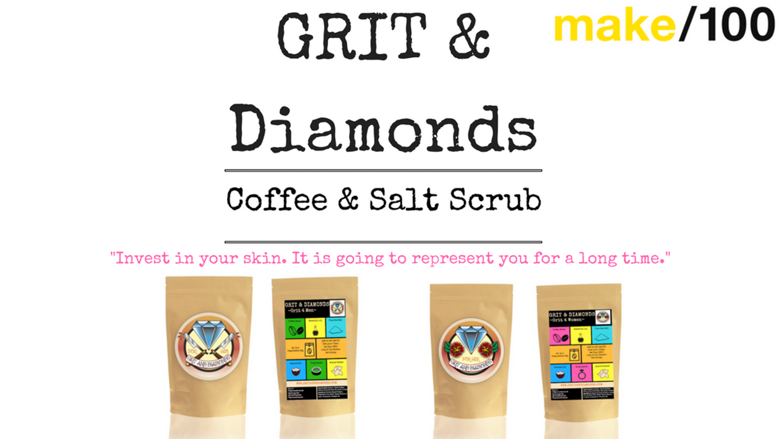 Make100 Grit Diamonds Coffee Salt Body Scrub 100natural By Ucc Columbia 20 X Gram Uses All Natural Ingredients In This Lavish Exfoliant