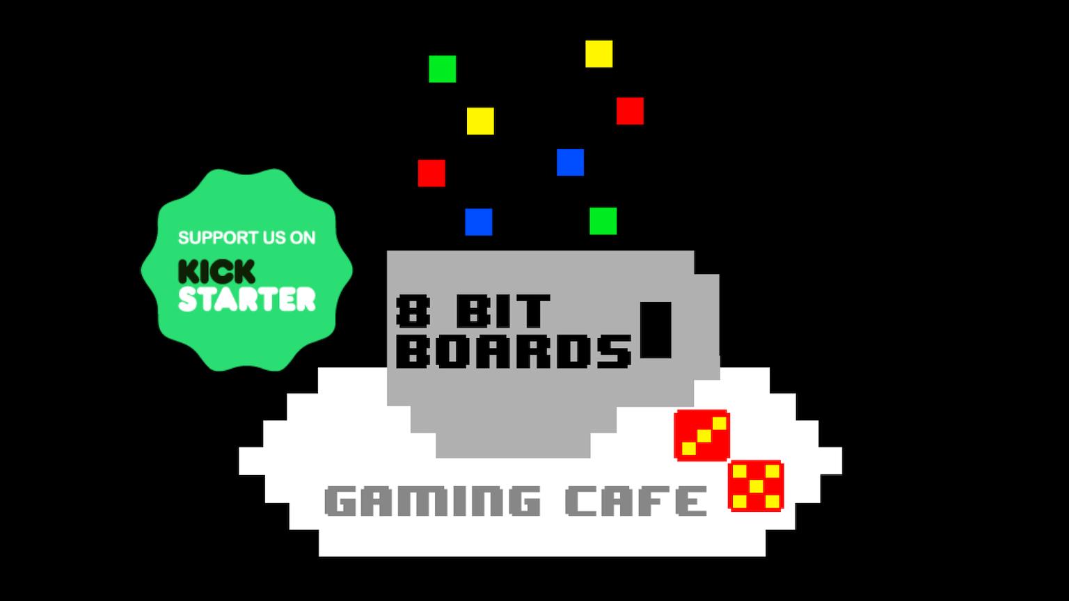 8bitboards board game and retro gaming caf by kieran james franklin kickstarter. Black Bedroom Furniture Sets. Home Design Ideas