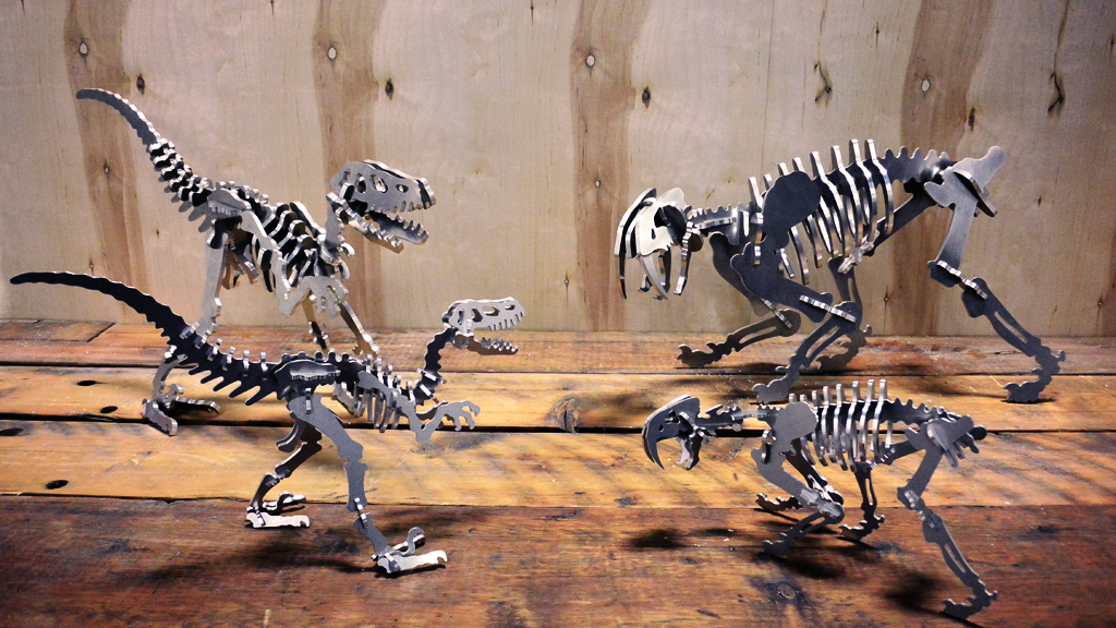 Boneyard Pets v4 : 3D Aluminum Dinosaur Skeleton Sculptures project video thumbnail