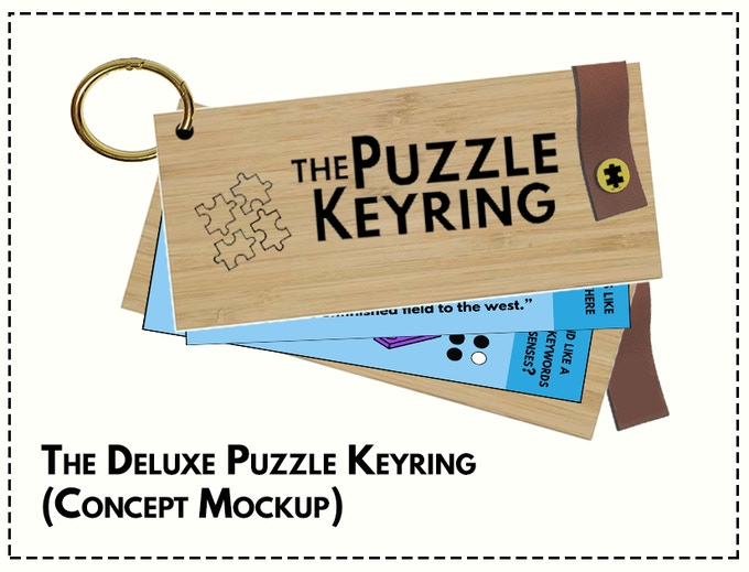 Only 100 Deluxe Puzzle Keyrings will ever be made!