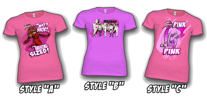 """3 T-shirt Designs to choose from if you select the """"Fashion Sense"""" Reward Level!"""