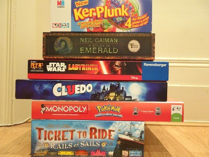 A few of the games we will stock - there will be MANY more!
