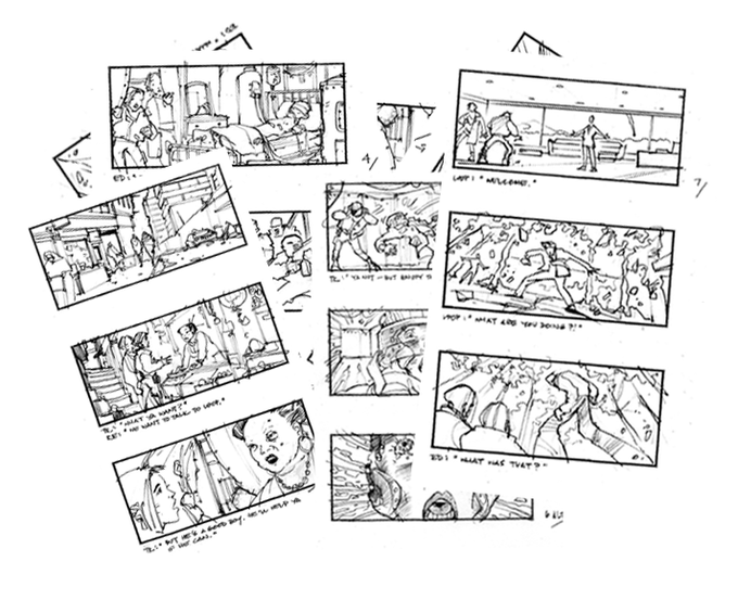 Storyboards by Temple Clark