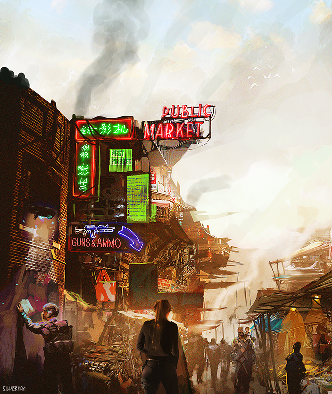 Old London Market by Samuel Silverman