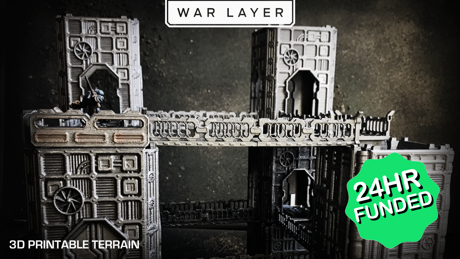 War Layer is a brand new collection of the best 3d printable sci-fi wargaming terrain.