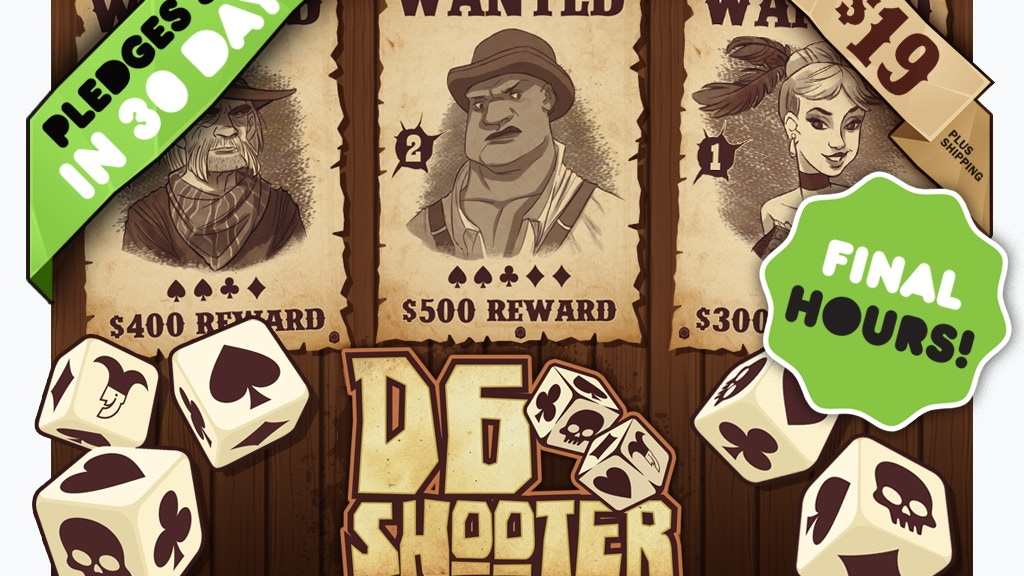 D6 Shooter: 2nd Chance for Kickstarter Pricing! project video thumbnail