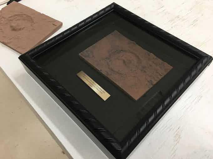 8 x 8 inch black framed shadow box