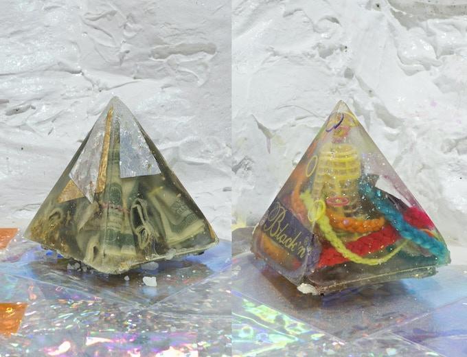 Reward $150.00 : Example of resin pyramids.