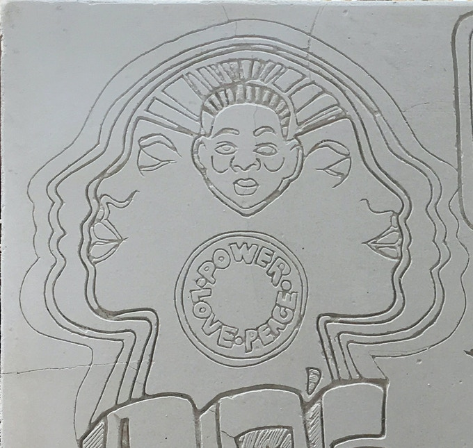 Reward $500.00 : Example of 6 IN x 6 IN hand carved, original hieroglyph panels from the structure.