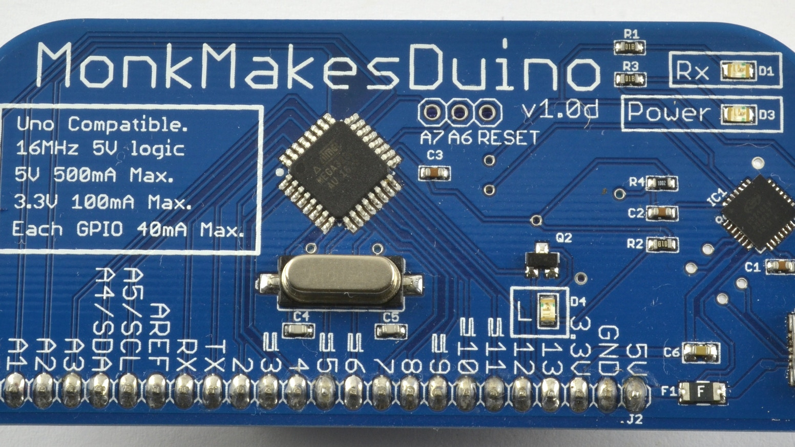 Monkmakesduino By Simon Monk For Monkmakes Ltd Updates Kickstarter Beginner Electronic Circuits A Friendly Arduino Uno Compatible Board Designed Use With Solderless Breadboard Having Single Row Of Pins