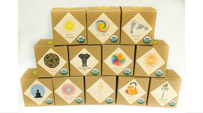 Pyramid teabags boxes