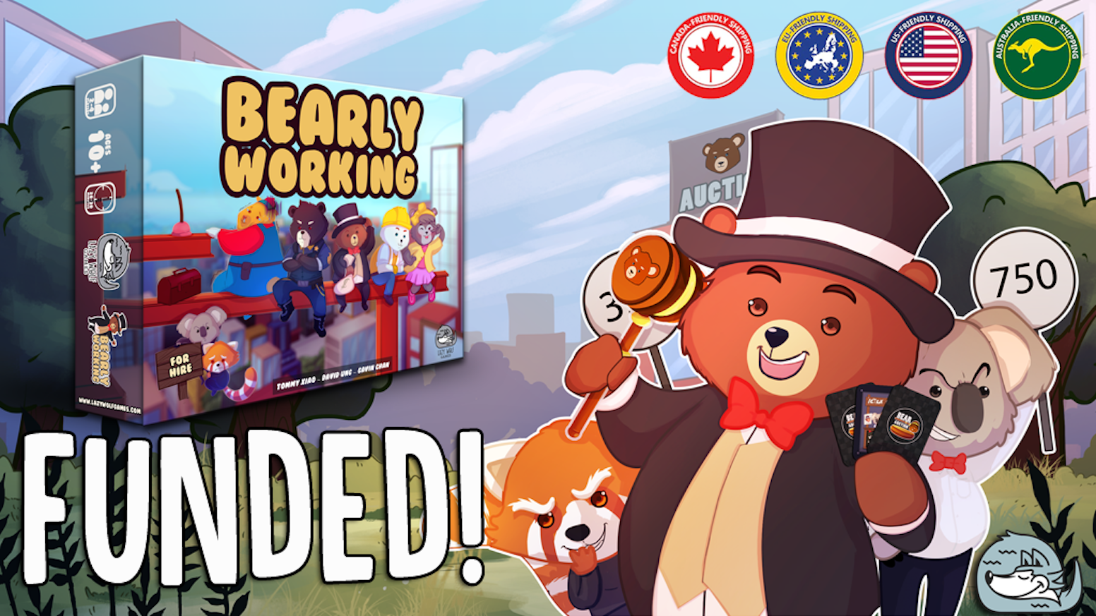 A fast paced open-auction game for 2 to 4 players where you purchase workers and hire evil koalas to sabotage your opponents.