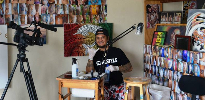 Renowned Pacific tattoo artist John Alefaio.