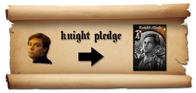 example of Knight's Pledge