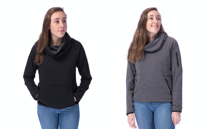 The 360 for her, nylon side and merino side