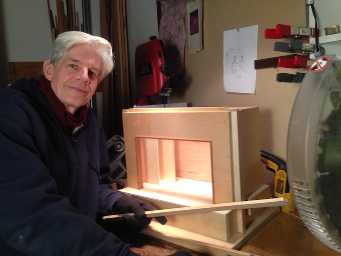 Co-Producer Sturgis Warner is also the project's Lighting Designer and Carpenter