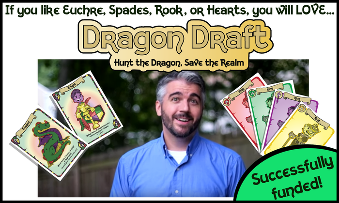 A trick-taking, draft your hand card game. Team up to earn the most gems and reign victorious. Hunt the dragon, save the realm!