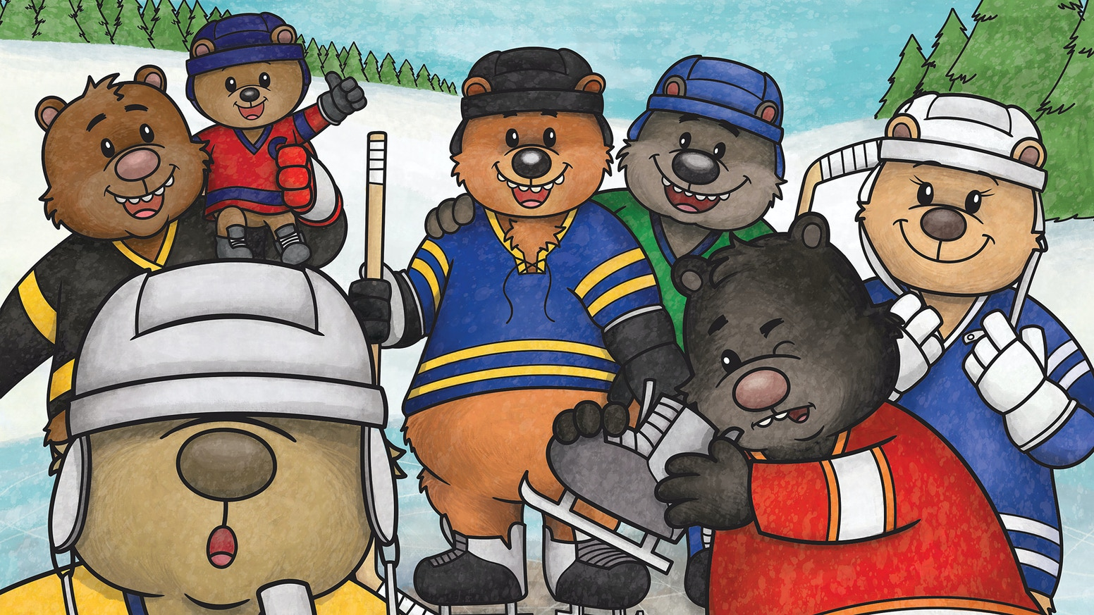 Every year, right before hibernation, all the bears in the forest gather for a rollicking game of BEAR HOCKEY!
