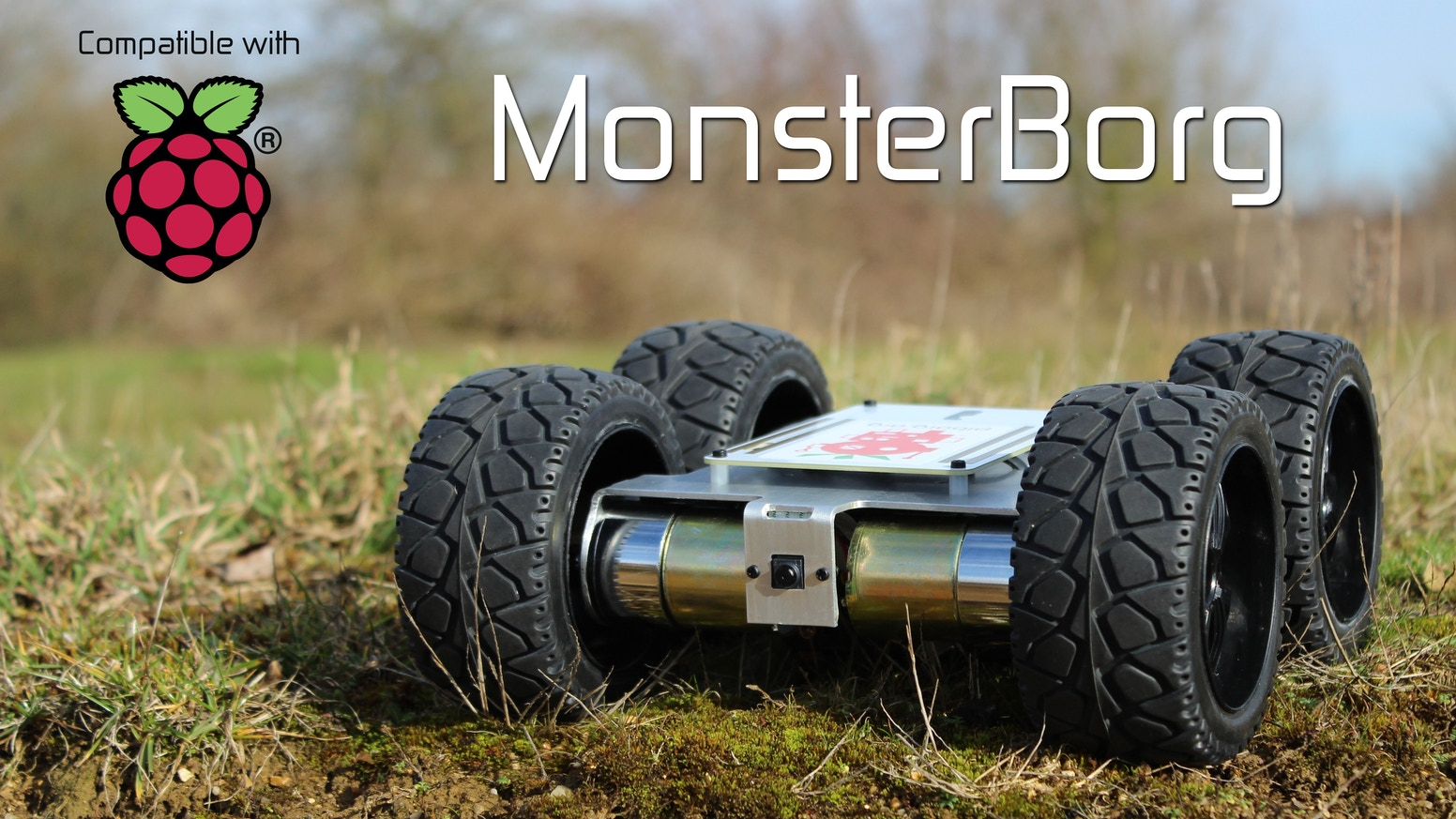 The Ultimate Pi Robot. Aluminium chassis, off-road wheels, fast motors, self-driving code and a powerful new motor controller.