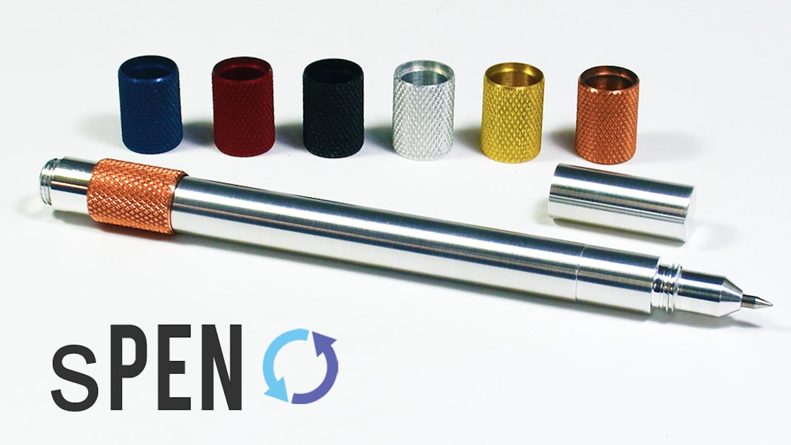 A Fidgeter with a function! The 'sPEN' is a pen that integrates a fun fidget spinner!